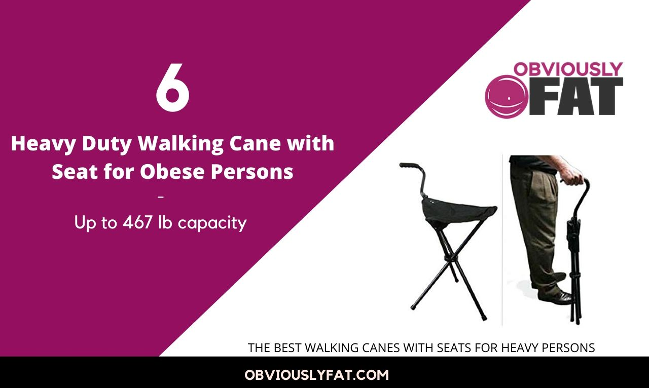 heavy duty walking cane with seat for obese persons